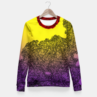 Thumbnail image of Red Sun Fitted Waist Sweater, Live Heroes