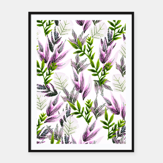 Thumbnail image of Illustration pattern plants Cartel con marco, Live Heroes