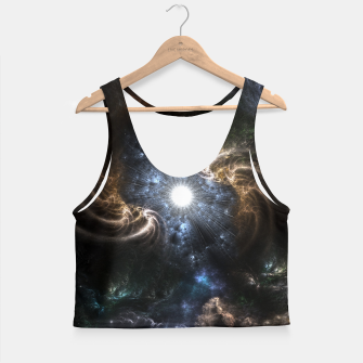Thumbnail image of Realm Of Fractal Chaos CRTXR Crop Top, Live Heroes