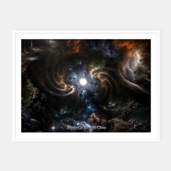 Thumbnail image of Realm Of Fractal Chaos CRTXR Framed poster, Live Heroes