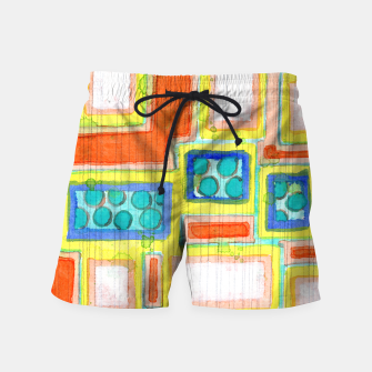 Thumbnail image of Structured Beautiful Bright Pattern with Vertical Pencil Lines  Swim Shorts, Live Heroes