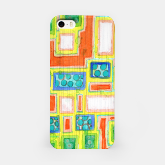 Thumbnail image of Structured Beautiful Bright Pattern with Vertical Pencil Lines  iPhone Case, Live Heroes