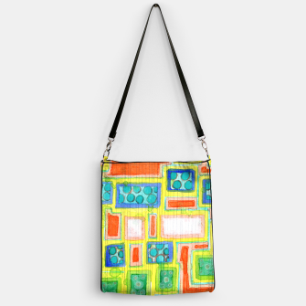 Imagen en miniatura de Structured Beautiful Bright Pattern with Vertical Pencil Lines  Handbag, Live Heroes