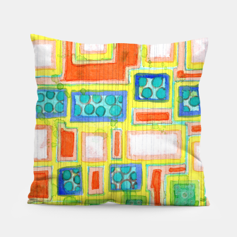 Thumbnail image of Structured Beautiful Bright Pattern with Vertical Pencil Lines  Pillow, Live Heroes