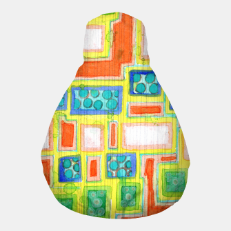 Thumbnail image of Structured Beautiful Bright Pattern with Vertical Pencil Lines  Pouf, Live Heroes
