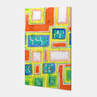 Thumbnail image of Structured Beautiful Bright Pattern with Vertical Pencil Lines  Canvas, Live Heroes