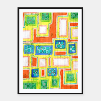 Thumbnail image of Structured Beautiful Bright Pattern with Vertical Pencil Lines  Framed poster, Live Heroes