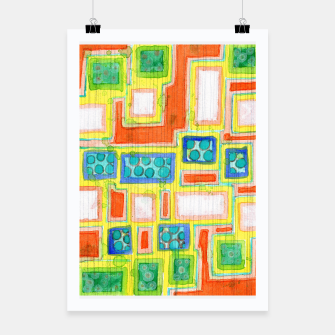 Thumbnail image of Structured Beautiful Bright Pattern with Vertical Pencil Lines  Poster, Live Heroes