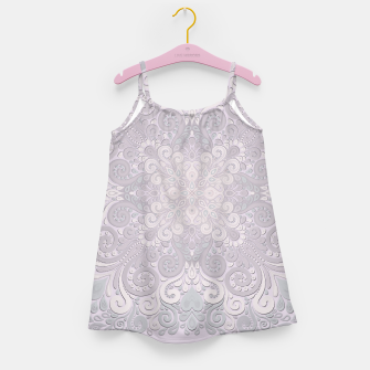 Miniature de image de Powder Pink Watercolor Ornate Girl's Dress, Live Heroes