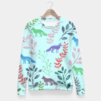 Miniature de image de Floral and Fox  Fitted Waist Sweater, Live Heroes