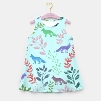 Miniature de image de Floral and Fox  Girl's Summer Dress, Live Heroes