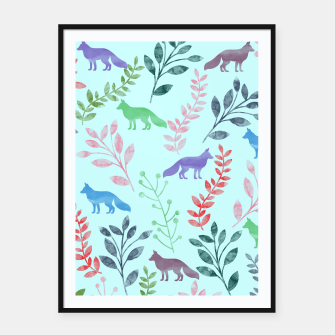 Miniature de image de Floral and Fox  Framed poster, Live Heroes