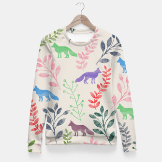 Miniature de image de Floral and Fox II Fitted Waist Sweater, Live Heroes