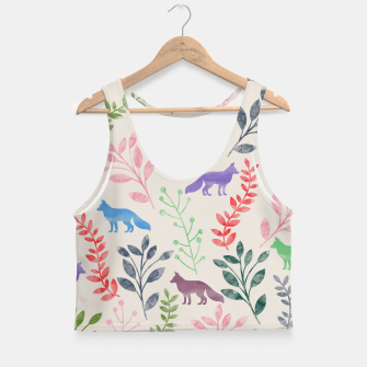 Miniature de image de Floral and Fox II Crop Top, Live Heroes