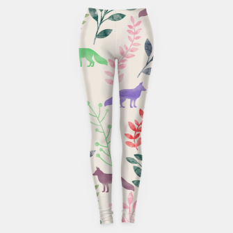 Imagen en miniatura de Floral and Fox II Leggings, Live Heroes