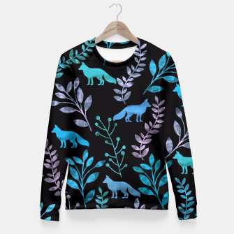Miniature de image de Floral and Fox V Fitted Waist Sweater, Live Heroes
