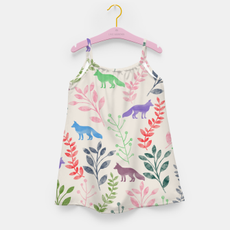 Miniature de image de Floral and Fox II Girl's Dress, Live Heroes