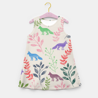 Miniature de image de Floral and Fox II Girl's Summer Dress, Live Heroes