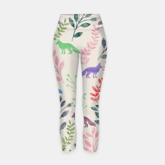 Miniature de image de Floral and Fox II Yoga Pants, Live Heroes