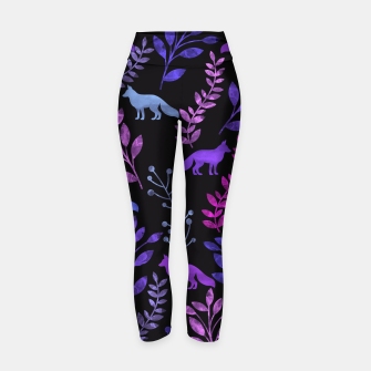 Miniature de image de Floral and Fox III Yoga Pants, Live Heroes