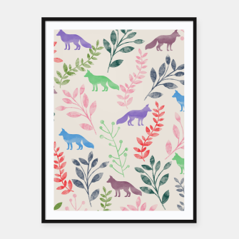 Miniature de image de Floral and Fox II Framed poster, Live Heroes