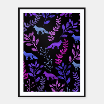 Miniature de image de Floral and Fox III Framed poster, Live Heroes