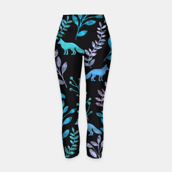 Miniature de image de Floral and Fox V Yoga Pants, Live Heroes