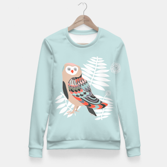 Miniature de image de Owl Leaves Fitted Waist Sweater, Live Heroes