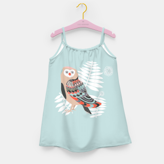 Miniature de image de Owl Leaves Girl's Dress, Live Heroes