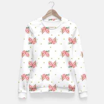 Miniature de image de pink flowers Fitted Waist Sweater, Live Heroes