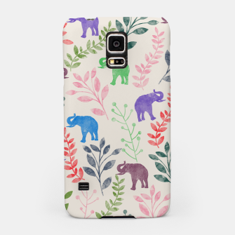 Miniature de image de Watercolor Flowers & Elephants Samsung Case, Live Heroes