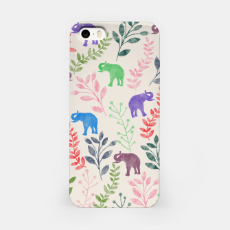 Miniature de image de Watercolor Flowers & Elephants iPhone Case, Live Heroes