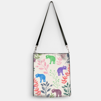 Imagen en miniatura de Watercolor Flowers & Elephants Handbag, Live Heroes
