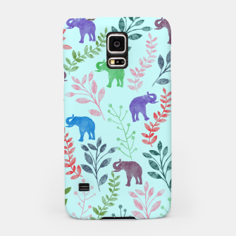 Miniature de image de Watercolor Flowers & Elephants II Samsung Case, Live Heroes