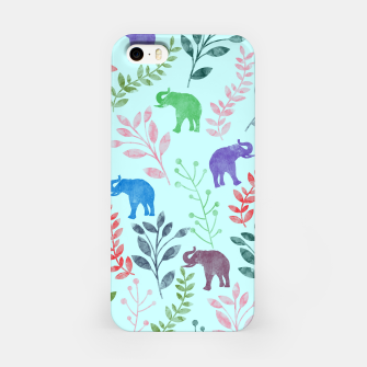 Miniature de image de Watercolor Flowers & Elephants II iPhone Case, Live Heroes