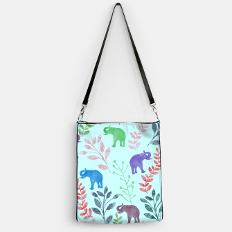 Imagen en miniatura de Watercolor Flowers & Elephants II Handbag, Live Heroes