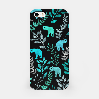 Miniature de image de Watercolor Flowers & Elephants III iPhone Case, Live Heroes