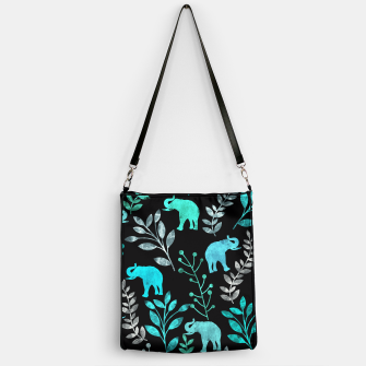 Imagen en miniatura de Watercolor Flowers & Elephants III Handbag, Live Heroes
