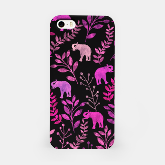 Miniature de image de Watercolor Flowers & Elephants IV iPhone Case, Live Heroes