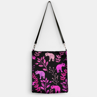 Imagen en miniatura de Watercolor Flowers & Elephants IV Handbag, Live Heroes