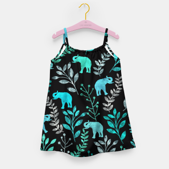 Miniature de image de Watercolor Flowers & Elephants III Girl's Dress, Live Heroes