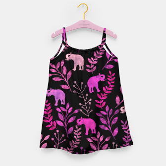 Miniature de image de Watercolor Flowers & Elephants IV Girl's Dress, Live Heroes