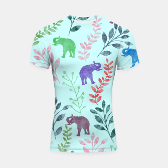 Miniature de image de Watercolor Flowers & Elephants II Shortsleeve Rashguard, Live Heroes