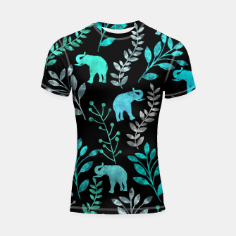Miniature de image de Watercolor Flowers & Elephants III Shortsleeve Rashguard, Live Heroes