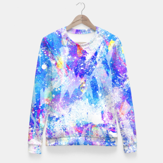 Miniature de image de Abstract Blues Fitted Waist Sweater, Live Heroes