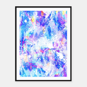 Miniature de image de Abstract Blues Framed poster, Live Heroes