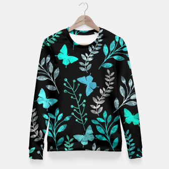 Miniature de image de Watercolor Flowers & Butterfly V Fitted Waist Sweater, Live Heroes