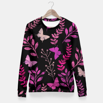 Miniature de image de Watercolor Flowers & Butterfly IV Fitted Waist Sweater, Live Heroes