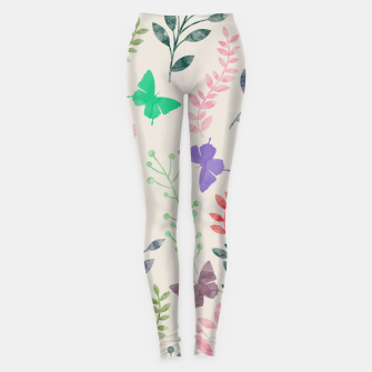 Imagen en miniatura de Watercolor Flowers & Butterfly  Leggings, Live Heroes