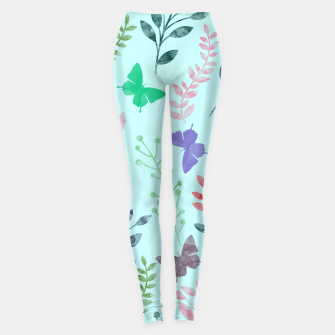 Imagen en miniatura de Watercolor Flowers & Butterfly  II Leggings, Live Heroes